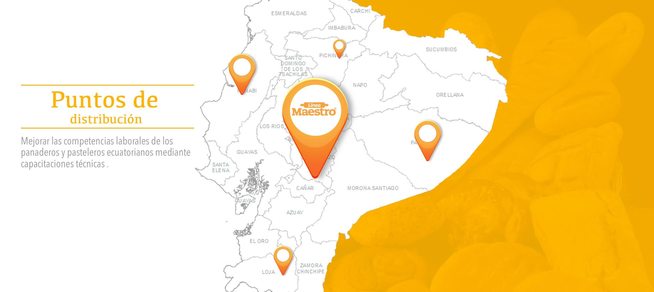 Puntos de distribución de Linea Maestro | Línea Maestro Ecuador